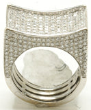 14k White Gold Stunner Pinky Ring