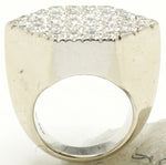 14k White Gold Hexagon Pinky Ring 33.2 G