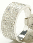 14k Invisible Set Diamond Pinky Ring 9.8 G