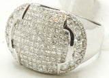 14k White Gold Invisible Set Diamond Pinky Ring 13.2 G
