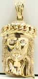 14k Gold Jesus Piece with Cuban Crown 35.8 G