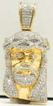14k Two Tone Gold Diamond Jesus Piece 17.3 G