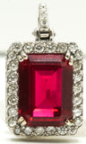Red Rudy Diamond Pendant