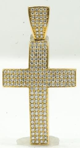 Pave Set Diamond Cross 17.2 G