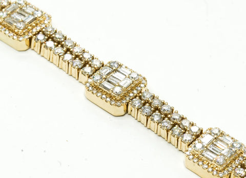 Assorted Diamonds Baguette Bracelet