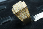 14k Yellow Gold Diamond Pinky Ring 7.3 Ctw 20 G