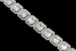 14k White Gold Baguette Necklace 17 Ctw