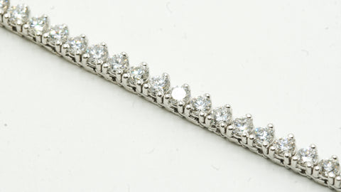 14k White Gold Diamond Tennis Chain 17 Ctw