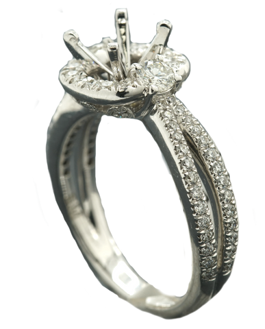 18k Engagement Ring 0.77 Ctw