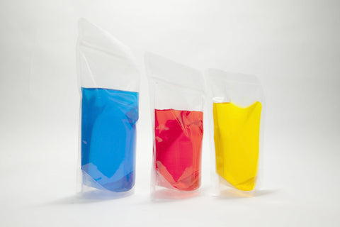 Clear ziplock stand-up pouches 160mm x 270 mm (800ml)