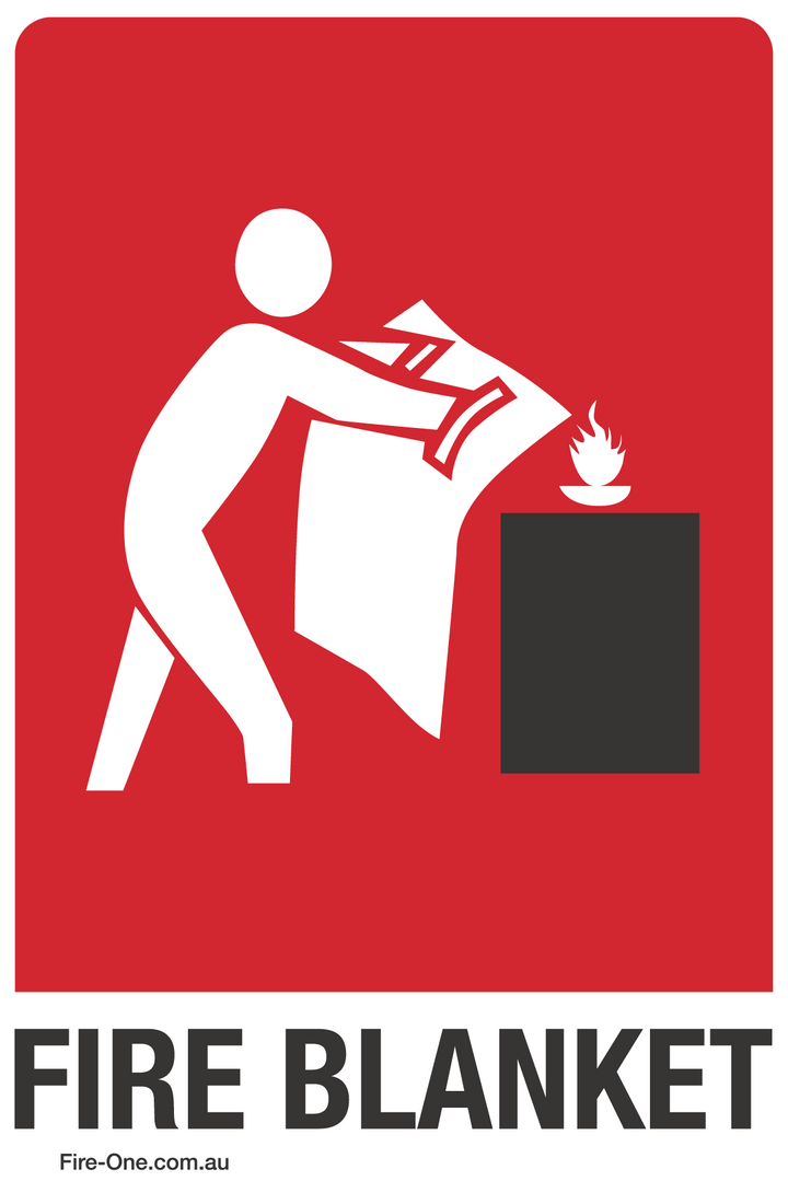 Fire Blanket location sticker