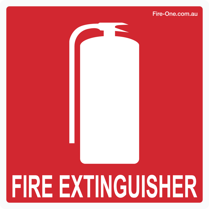Fire Extinguisher location sticker