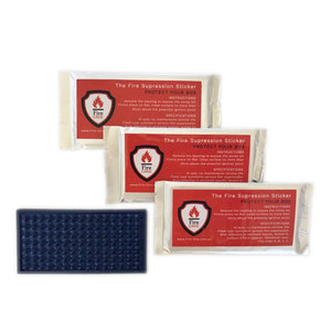 Fire Suppression Sticker 4 Pack