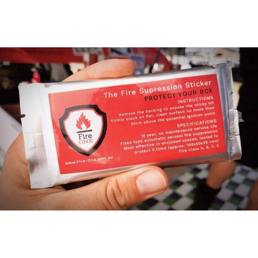 Fire Suppression Sticker Protect your box! - Fire Extinguisher 4wd Auto Boat Camper Campervan