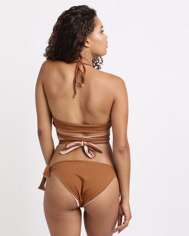 Reversible Bottom -Chocolate & Dusty Pink