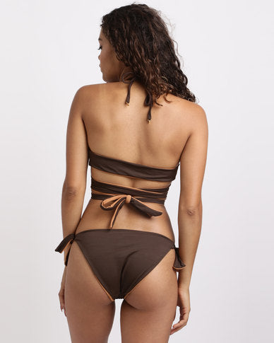 Wrap Top Reversible -Cocoa & Toffee