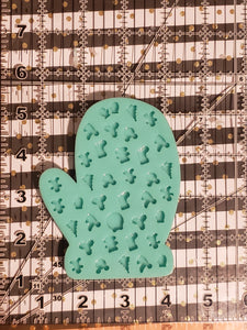 Mitten mold with X-mas cabs