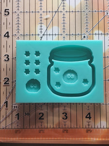 Small Soot Sprite Jar Shaker Mold