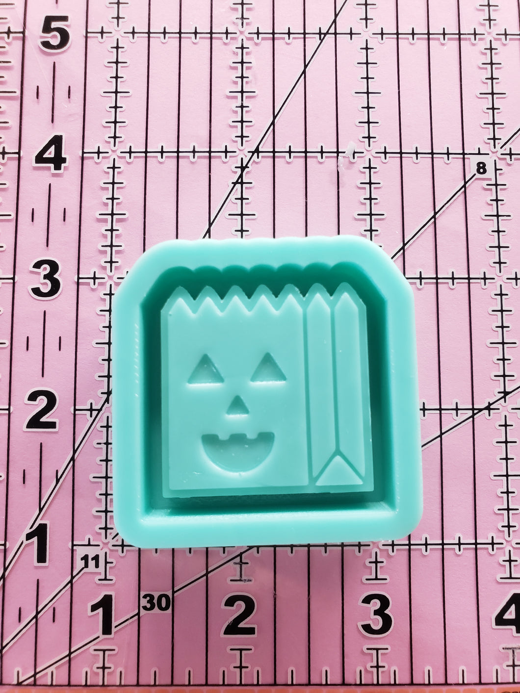 Trick or Treat Bag Grippy Shaker Mold