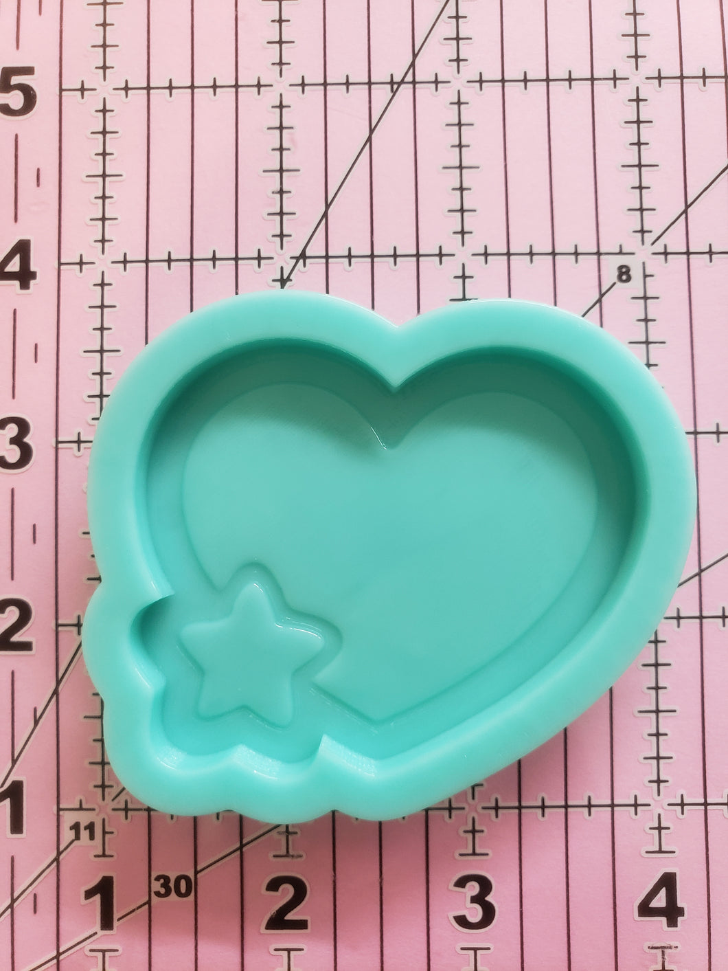 Heart w/ Star Non-shaker Mold
