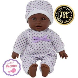 11 Inch Baby Doll Purple Polka Dot