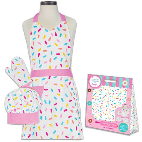 Sprinkles Deluxe Child Apron Boxed Set