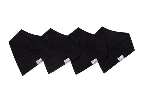 Basic Black Bandana Bibs