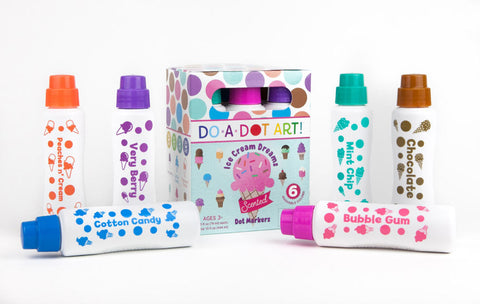 Scented Ice Cream Dreams 6 Pack Dot Markers