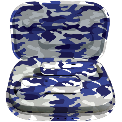 Blue Camo Compact Earbuds
