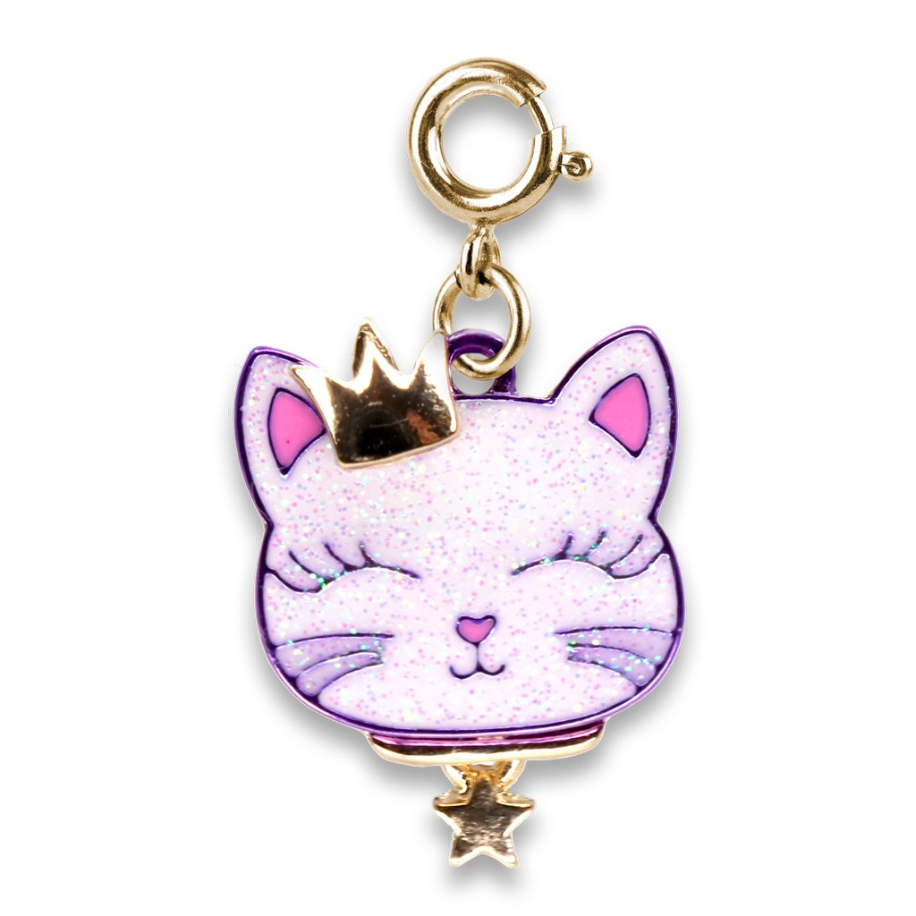 Gold Princess Kitty Charm