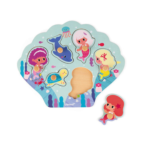 Happy Mermaids Puzzle 6 Pieces (Wood)