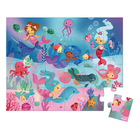 Hat Boxed Puzzle Mermaids  24 Pieces