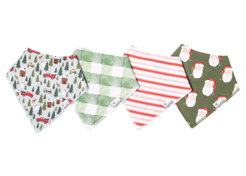 Kringle Baby Bandana Bib Set (4-pack)