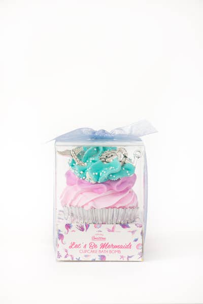 Mermaid Large Cupcake Bath Bomb (Jasmine & Waterlily)
