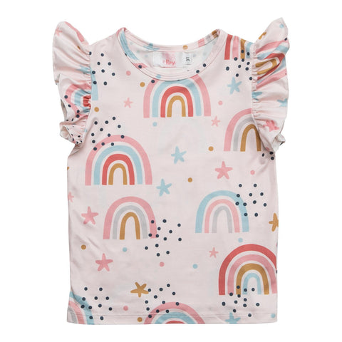 Over the Rainbow S/s Ruffle Tee