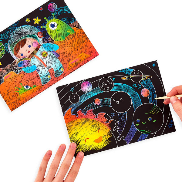 Scratch and Scribble Art Kit- Space Exploration