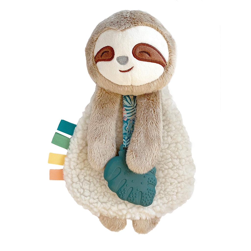 Plush Lovey with Silicone Teether- Sloth