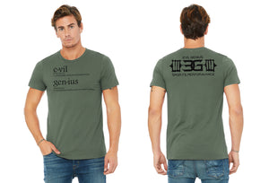 "TeamEvilGSP ""Dictionary Logo"" Tshirt / Green"