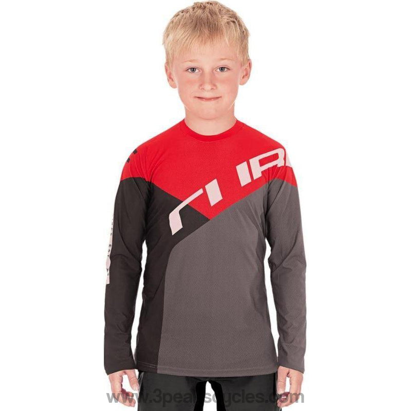 Cube Junior Long Sleeve MTB Jersey-Kids Clothing