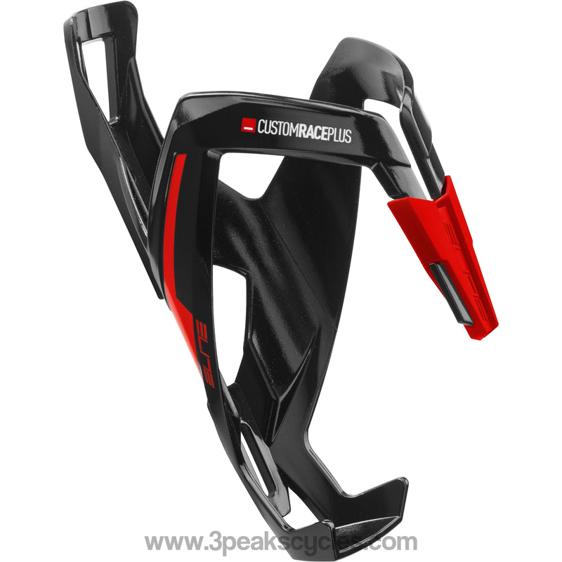 Elite Custom Race Plus Resin Cage - Black / Red-Bottle Cages