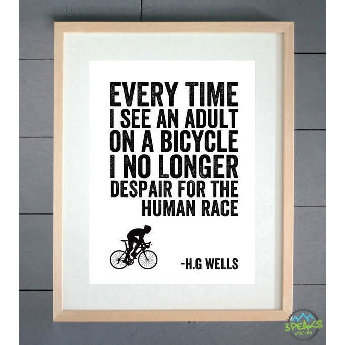 Ellie Bean Cycling Print - Hg Wells-Gifts