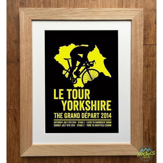 Elliebean Cycling Print - Yorkshire Grand Depart-Gifts