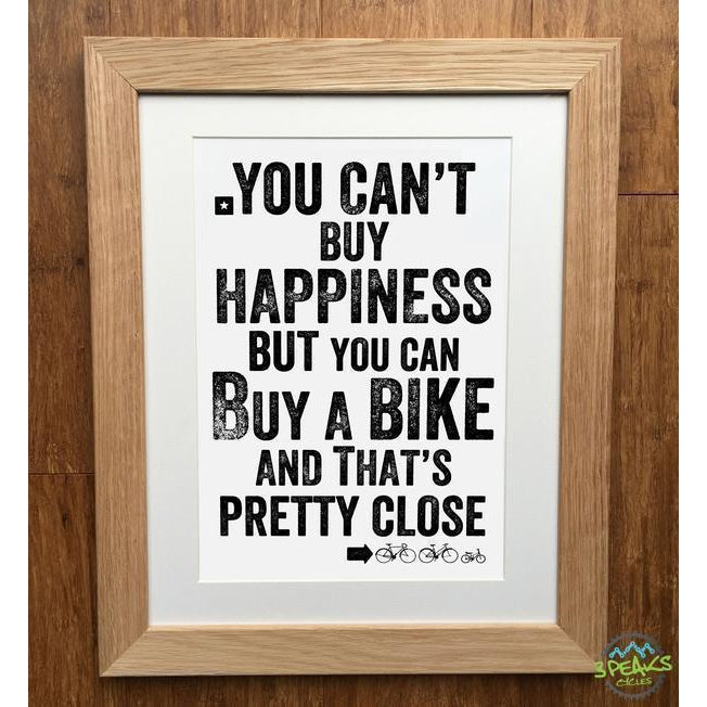 Elliebean Cycling Print - You Can'T Buy Happiness..-Gifts