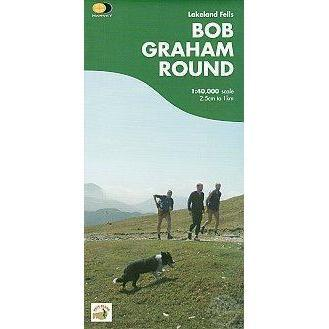 Harvey Maps - Bob Graham Round Map 1:40,000-Books & Maps