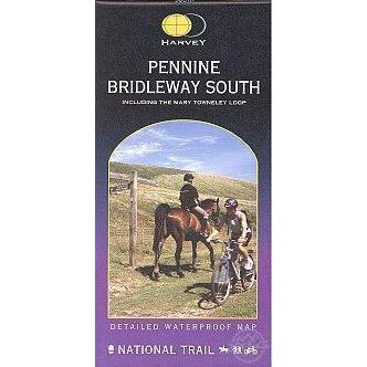 Harvey Maps Pennine Bridleway South, Inc Mary Towneley Loop-Books & Maps