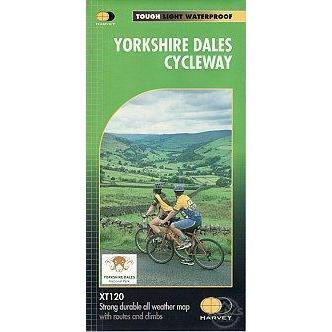 Harvey Maps - Yorkshire Dales Cycle Way Route NY10 XT120-Books & Maps