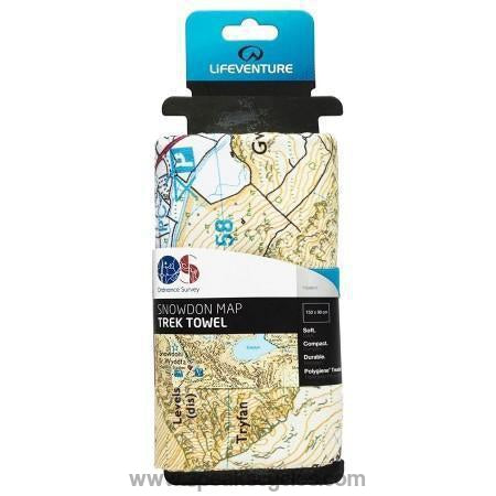 Lifesystems Softfibre Os Map Towel - Snowdon-Towels