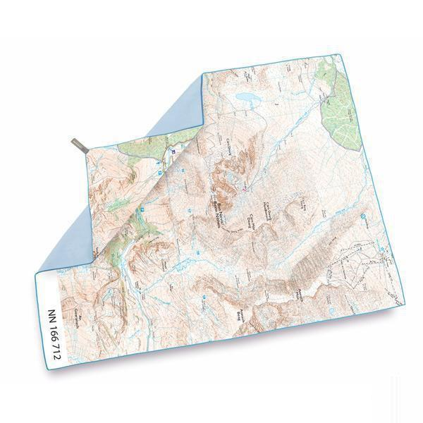 Lifeventure Softfibre Os Map Towel - Ben Nevis-Towels