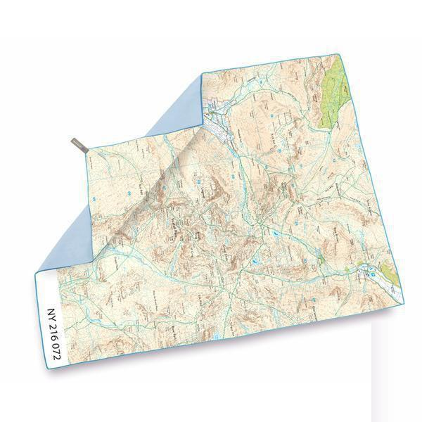 Lifeventure Softfibre Os Map Towel - Scafell Pike-Towels