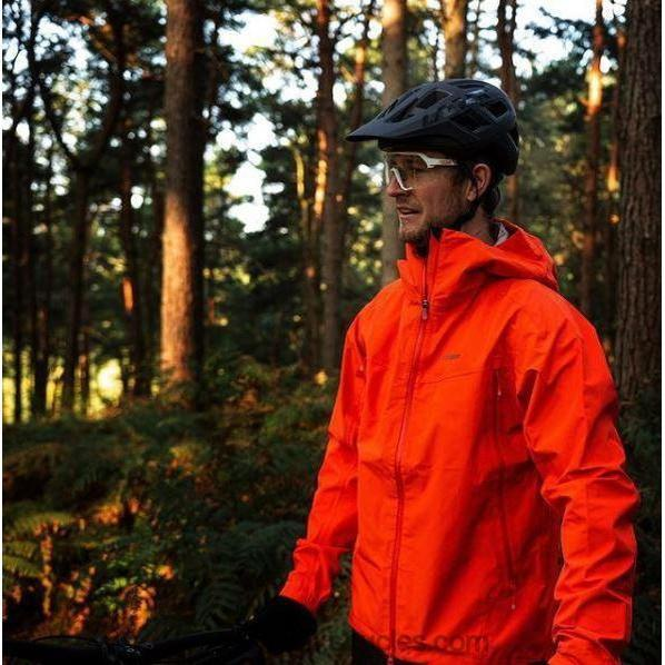 Madison DTE Men's Red 3-Layer Waterproof Storm Jacket-Jackets